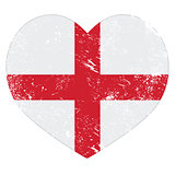 England heart retro flag