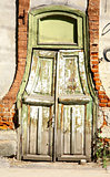 Old wooden door in the centre of Nizhny Novgorod