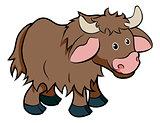Cartoon Yak animal character