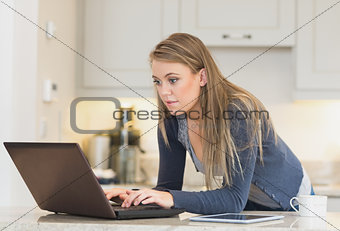 Woman at a laptop