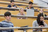 Class listening in a lecture hall