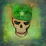 war grunge skull