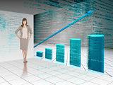 Businesswoman presenting graph