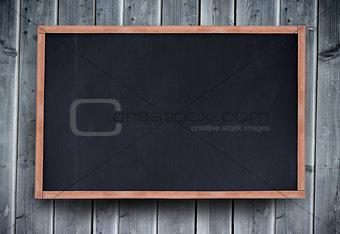 Blackboard with copy space on wooden board