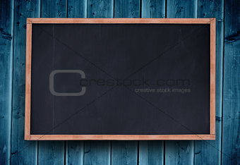 Blackboard with copy space on wooden board