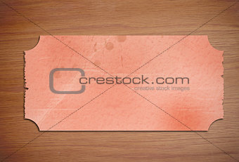 Piece of paper on wooden desk