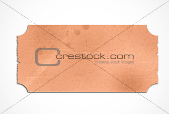 Stained orange paper label