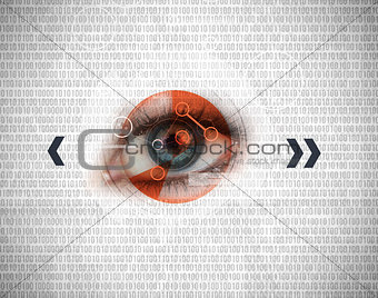 Blue eye being analysed