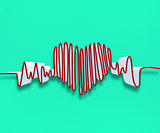 Drawn heart line