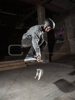 Skater doing 360 trick