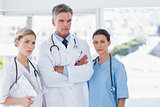 Three serious doctors