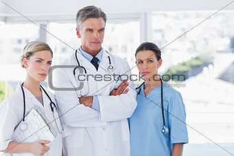 Three serious doctors