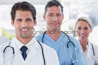 Three cheerful doctors
