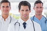 Smiling medical team standing