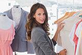 Fashion woman choosing clothes