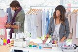 Fashion designers working