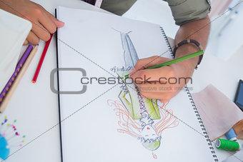 Artistic man drawing