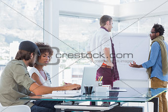 Creative designers working in a modern office