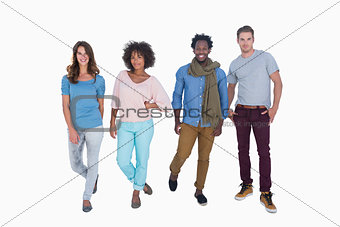 Young and fashion people posing