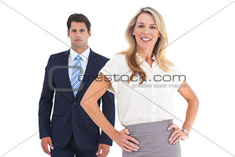 Attractive business people