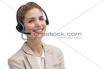 Attractive call center agent