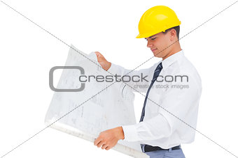 Architect reading a plan