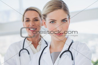 Attractive doctors standing together