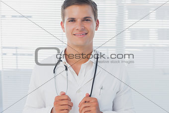 Portrait of an attractive doctor