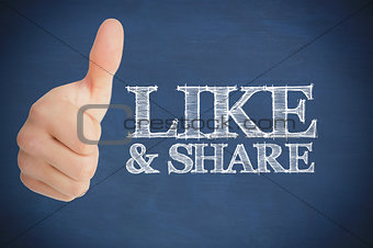 Thumb up representing social network logo
