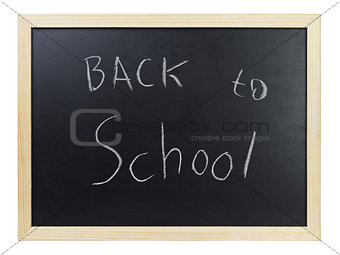 Back to school writing on blackboard