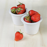 ripe strawberries in bowl