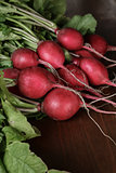 heap of ripe radishes