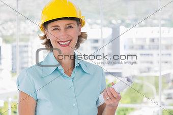 Smiling architect looking at camera