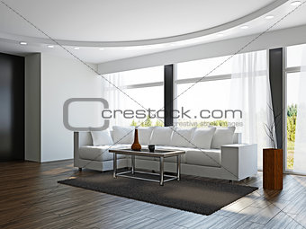 Livingroom with white sofa