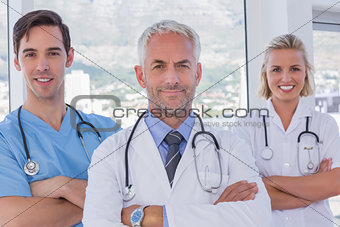 Group of doctor and nurses standing together