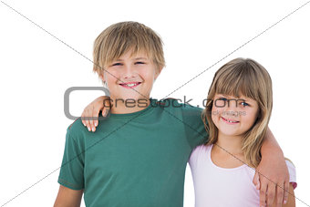 Beautiful little boy and girl