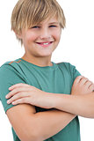 Blonde child smiling