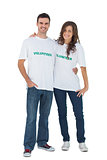 Two young people wearing volunteer tshirt