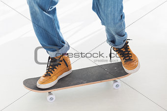 Man having fun on his skateboard