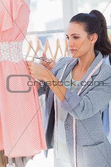 Attractive designer cutting dress