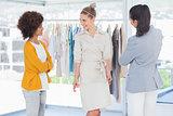 Fashion designers and model