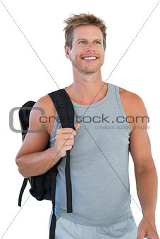 Cheerful man in sportswear