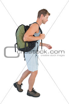 Man walking with sport bag