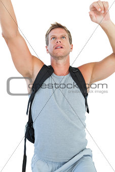 Man doing his exercices