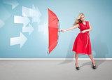 Glamour woman holding an umbrella