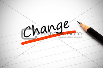 Change written on a notepad