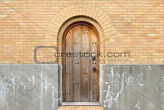 Old Church Exterior Wood Door