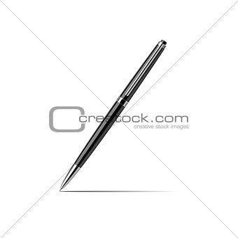 Black silver pen