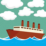 Steam ship