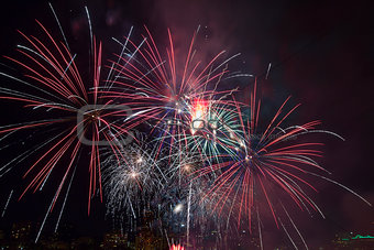 4th of July Fireworks Portland Oregon 2013